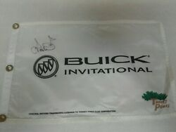 Buick Invitational Pin Flag Signed By Ian Poulter At Torrey Pines Open Ryder Pga