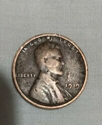 1919 Wheat Penny Brown No Mint Details Visible Coin Is Good Natural Age.