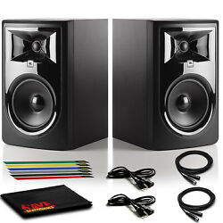 Jbl Professional 306p Mkii Studio Monitor Pair With 2 Xlr Cables And Cable Ties