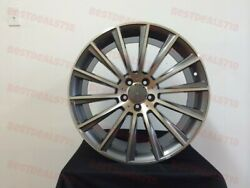 19 Staggered S550 New Style Rims Wheels Grey Fits 5x112 +35mm Et Offset