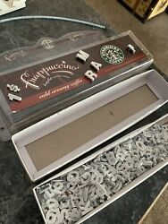 Starbucks Display Letter Board Letters Acrylic Wall Hanging Cubby Memo Store