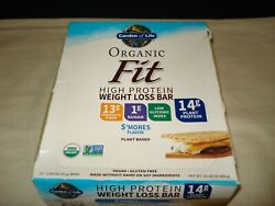 Garden Of Life Organic Fit High Protein Weight Loss Bars S'mores - 12 Bars 04/22