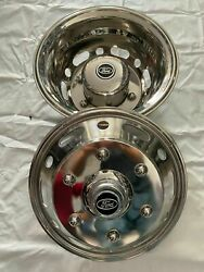 4 Hubcaps America New Stainless Steel For Iveco Daily 16 Entrax 170 Mm 6 Nuts