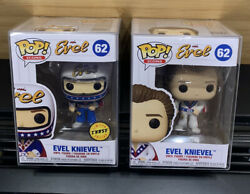 🚨funko Pop Icons Vinyl Figure - Evil Knievel 62 Set - Chase And Common🔥