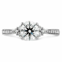Round Cut 1.00 Ct Real Diamond Womenand039s Engagement Ring 950 Platinum Size 5 6 7 8