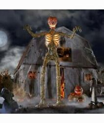 12 Foot Giant Inferno Pumpkin Skeleton Lcd Eyes Home Depot Sold Out