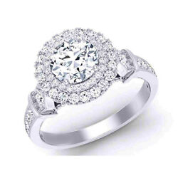 Excellente Coupe Solide 950 Platine 0.80 Ct Real Diamond Engagement Ring Taille