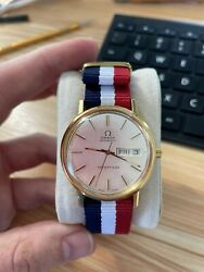 Vintage Omega Seamaster De Ville And Co Automatic Day Date 14k