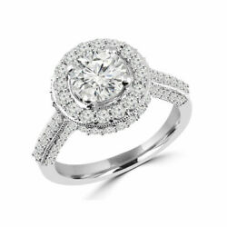 Poinandccedilonnandeacutee Solide 950 Platine Bande 1.40 Ct Real Diamond Engagement Ring 7 8.5 6