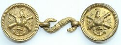 France French Army Gold Dress Belt Buckle Officers Ecole Polytechnique