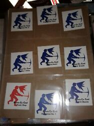 Mining Sticker, Extremely Rare 3 Complete Sets Of Boone County Coal 48 Stickers