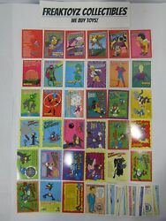 1994 Skybox The Simpsons Trading Cards, 63 Card Lot, Near Complete Set