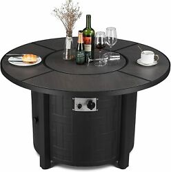 42 Inches Propane Firepit Table Auto Ignition Fire Bowl With Waterproof Cover