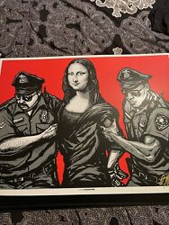 Munk One Arrested Red Print Extremely Rare Signed And Numbered Print