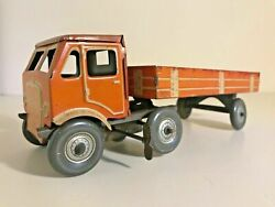 V.rare Vintage Tin 1940s Mettoy Clockwork Articulated Lorry/trailer English Toys