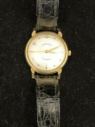 Hamilton Men's Automatic Watch From 1950's W/ 14k Solid Gold Case And Lugs - 8k