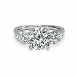 Real Diamond 950 Platinum Womenand039s Engagement Ring Round Cut 1.00 Ct Size 6 7 8.5