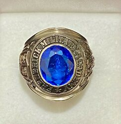 1976 Frederick Military Academy Ring In Solid White Gold 6k Apr W/coa}
