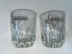 Chivas Regal Scotch Whisky Gold Etched Lowball Glass Texas Euc 2