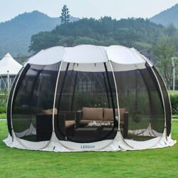 Leedor Screen House Room Pop Up Camping Tent Gazebo 15and039x15and039 Gray