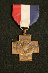 Wwi Us Home Front National Defense League Medal 1913 Original And Scarce Full Size