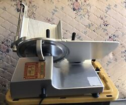 Bizerba Se12us Manual Deli Meat Cheese Slicer With Blade Sharpener And Manual.