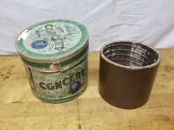 Antique Edison Concert Cylinder Phonograph Record With Case