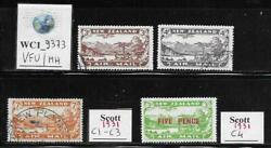 Wc1_9373. New Zealand. Valuable 1931 Air Mail Set And Stamp.scott C1-c3,c4.used/mh