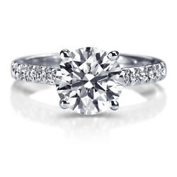 Msrp 16150 2.34 Ct Solitaire Diamond Engagement Ring White Gold I2 43753152