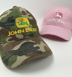 """""""john Beer"""" Deere His And Her Hats Camouflage And Pink Adjustable Baseball Cap Hat"""