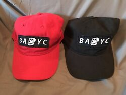 New Bored Ape Yacht Club Bayc Red And Black Limited Edition 2 Dad Cap Hat Set