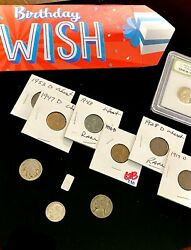 Birthday Coin amp; Silver Grab Bag Gifts 11x Old Rare U.S Coins .999 Silver