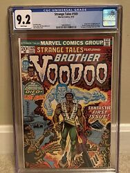 Strange Tales 169 Sep 1973, Marvel Cgc 9.2 White Pages 1st Brother Voodoo
