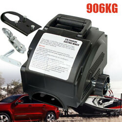 Portable 300w 12v Electric Winch Power Winches Auto Truck Towing Hauling Tool Us