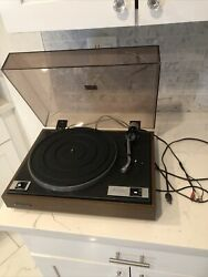 Vintage Kenwood Kd-1033 Belt Drive Turntable W/case Cracked Tested And Working