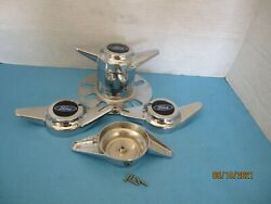 4  Bolt On/stud Mount Spinners 2 Bar To Instal On Derby Towers Blue/b/for