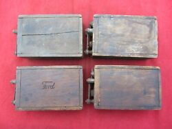 Lot Of 4 Vintage Antique Ford Model T A Ignition Coils Buzz Box As Is Untested