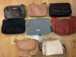 Lot Of 8 Small Crossbody Purses Leather with Pockets Straps Clean $27.00