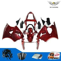 Injection Red Fairing Fit For Kawasaki 2000-2002 Zx6r And Zzr600 2005-2008 A049