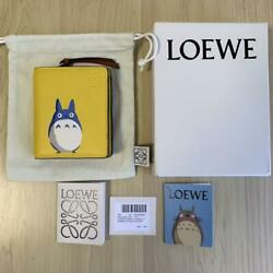 Loewe X My Neighbor Totoro Collabo Folding Wallet Yellow Limited New From Japan