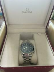Omega Watch Speedmaster Date 3511.80 Blue Mens Watch Used Japan First Shipping