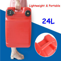 Portable 24l Gas Tank Gasoline Diesel Outboard Fuel Tanks For Marine Boat New