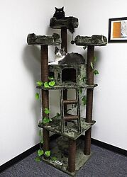 75 Tall Redwood Forest Themed Cat Tree - Free Shipping In The United States