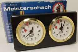 Apfv Rolland Vtg Schachuhr Chess Timer Strategy Game Clock Black Made In Germany