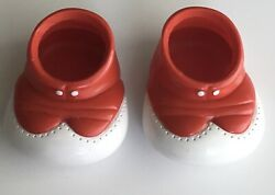 Vintage Cabbage Patch Doll Kid Shoes Red Clown Shoes