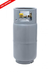 Flame King Ysn335 33.5 Pound Steel Forklift Propane Tank Cylinder With Gauge ...