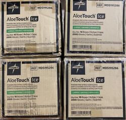 Aloetouch Ice Powder-free Nitrile Glove Large 4cases Of 2000 Mds195286