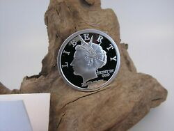 2006/2007 Double Date Norfed Liberty 20 1 Ounce .999 Silver Bullion Round  A
