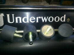 Underwood Model 2 3 4 5 Typewriter Rubber Feet 4 New Replacement Made In Usa