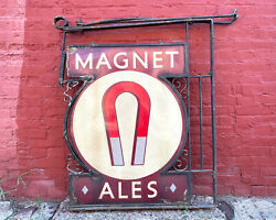Magnet Ales Porcelain Sign Local Pick Up In Philly Advertising Beer Breweriana